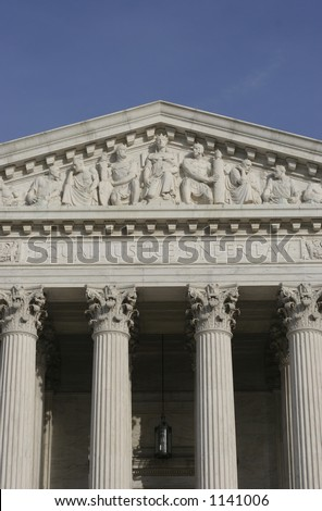 Supreme court - Long view detail - stock photo