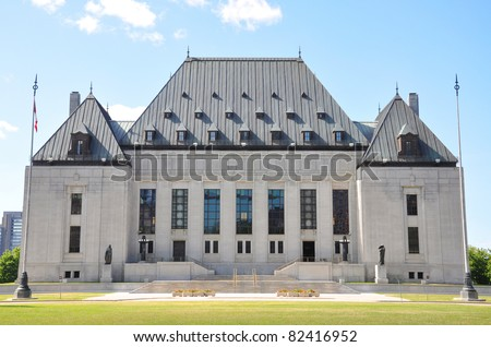 Supreme Court of Canada, Ottawa, Canada - stock photo