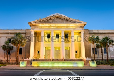 Supreme Court of the State of Florida in Tallahassee, Florida, USA. - stock photo
