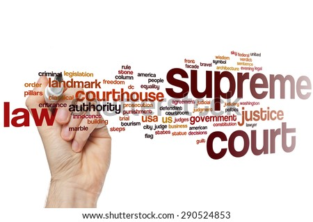 Supreme court word cloud concept - stock photo