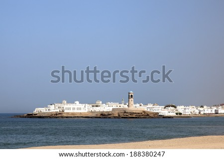 Sur City in oman - stock photo