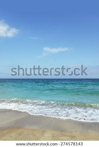 Surf and sand on Black Sea beach/Sea and beach/Sea and beach - stock photo