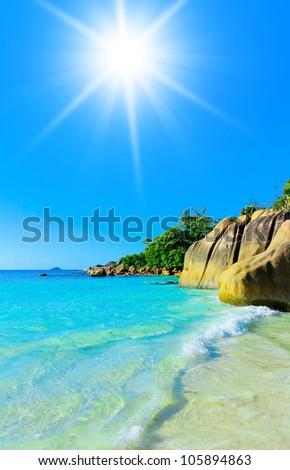 Surf Getaway Waves - stock photo