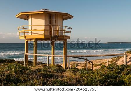 Surf Lifesaving Hut - stock photo