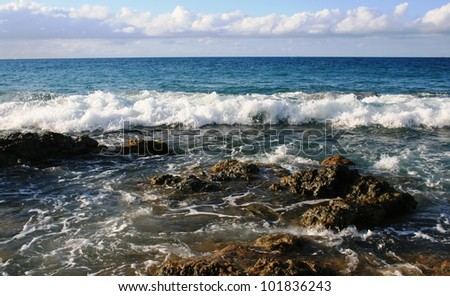Surf on Vieques Island, Puerto Rico - stock photo