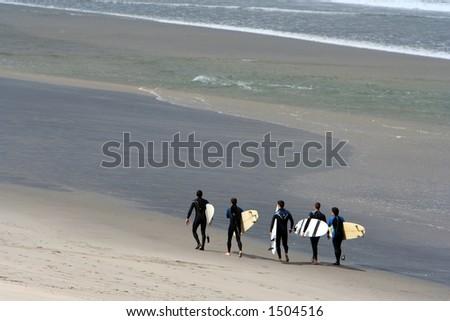 surf team - stock photo