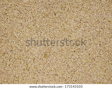 surface and texture of fine mix size gravel wall - stock photo
