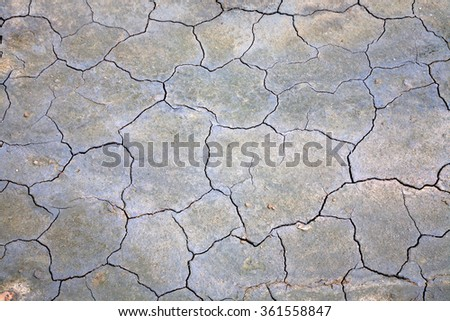 Surface of cracked ground for texture background - stock photo