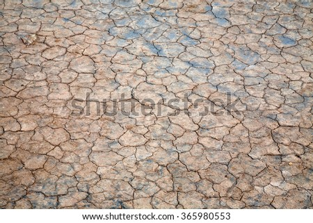 Surface of cracked ground for texture background. - stock photo