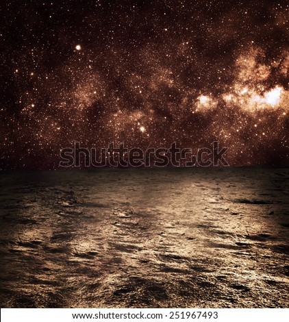 Surface of Mars  - Elements of this Image Furnished by NASA - stock photo