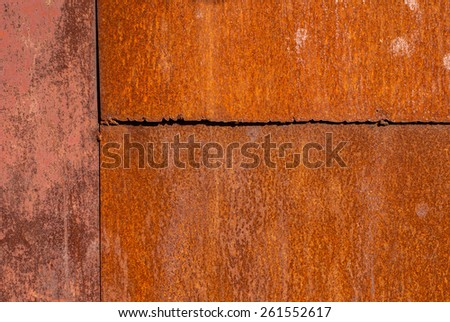 surface of rusty sheet metal texture background - stock photo