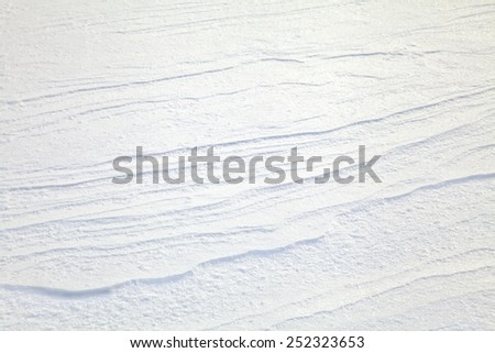 Surface of snow crust on a windy day - stock photo