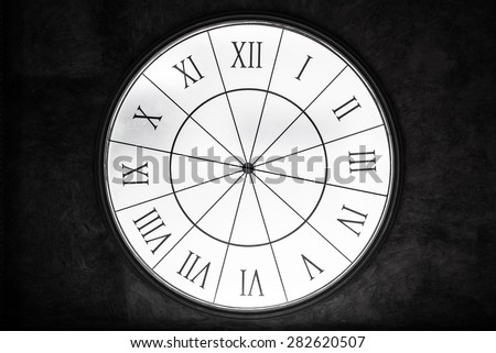 surface of the glowing roman number clock  - stock photo