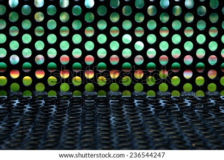 Surface of the sheet metal in the playground. - stock photo