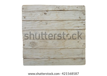 surface of wood table  on top, wood wall, wood fence, sort of vertical plank.isolated on white background - stock photo