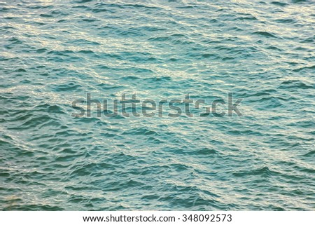 Surface water. Of blue color. With ripples. - stock photo