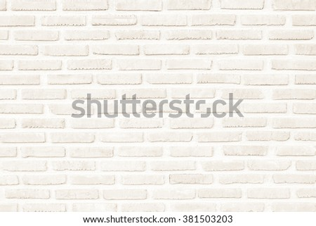 Surface white wall of brick wall brown sepia tones for use as background. The new design of modern white stone wall. Pattern of decorative gray stone wall surface. - stock photo