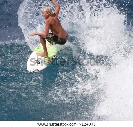 surfer grom - stock photo