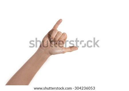 Surfer Hand Sign - stock photo