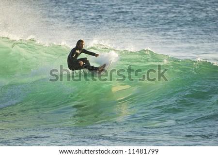 Surfer, San Diego, California - stock photo