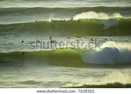 Surfers - stock photo