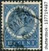 SURINAME (COLONY OF NETHERLANDS) - CIRCA 1904: Postage stamp Suriname, shows Wilhelmina, Queen of the Netherlands, circa 1904 - stock photo