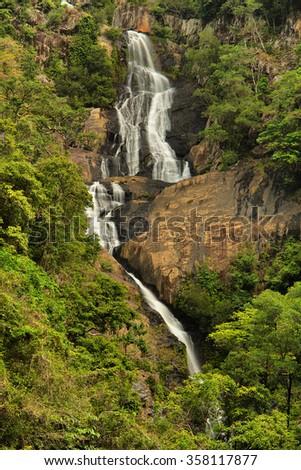 Surprise Falls, Barron Gorge National Park, Cairns, Australia - stock photo