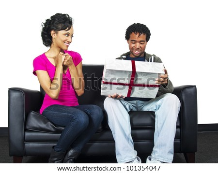 surprise gift - stock photo