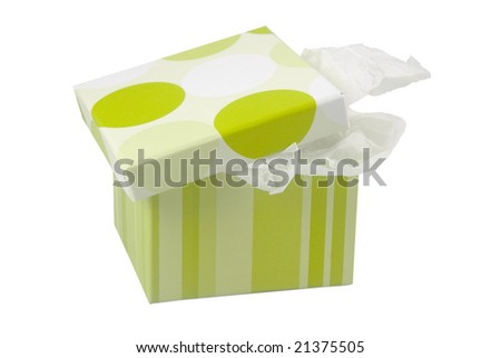 Surprise gift box - stock photo