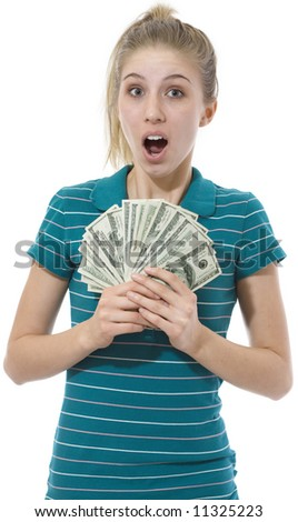 Surprise Money - stock photo