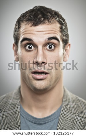 Surprised Face - stock photo
