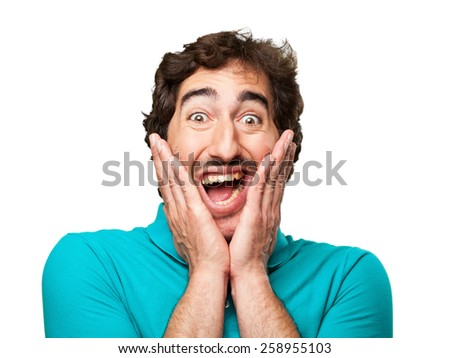 surprised young man - stock photo