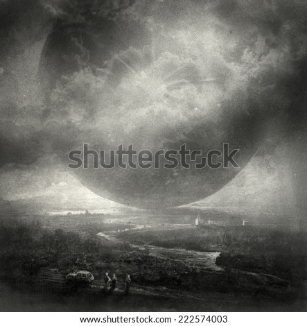 Surreal landscape - stock photo