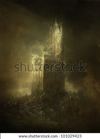 Surreal throne - stock photo