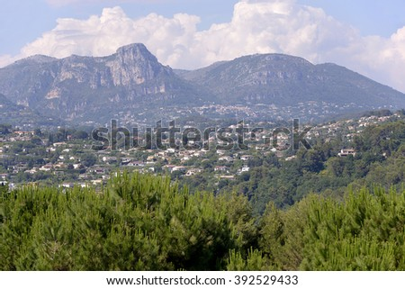 Surroundings of Saint Paul de Vence, commune in the Alpes-Maritimes department on the French Riviera - stock photo
