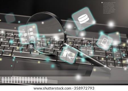 Surveillance. - stock photo