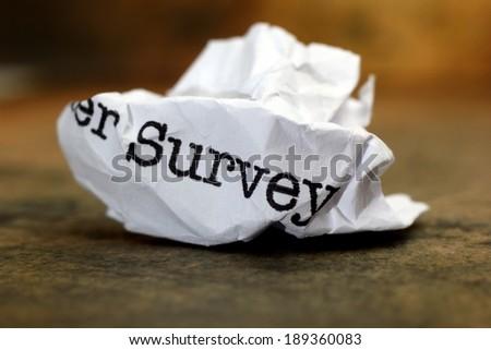 Survey trash - stock photo