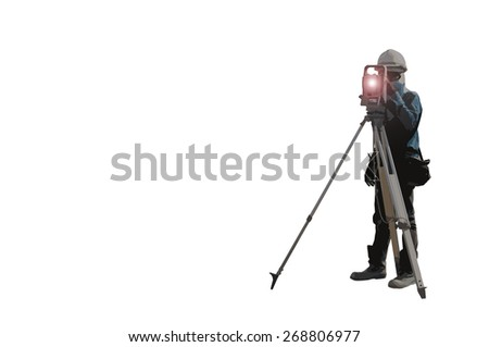 surveyor - stock photo