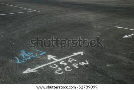 Surveyor marks - stock photo