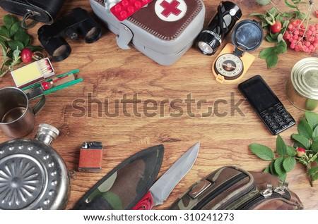 Survival kit - stock photo
