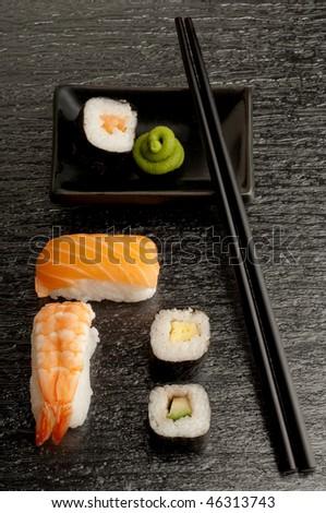 sushi mix - stock photo