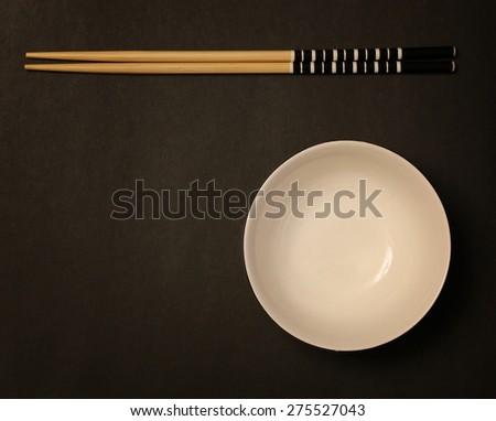 sushi plate sticks - stock photo