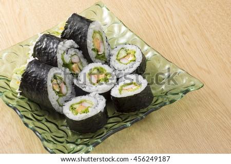 Sushi rolls - stock photo