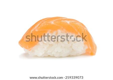 sushi with salmon - stock photo
