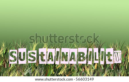sustainability and green thinking  illustration concept - stock photo