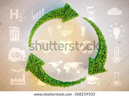 Sustainable development concept - stock photo