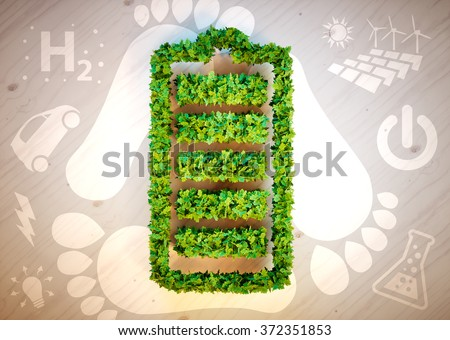 Sustainable energy concept. 3D computer generated image. - stock photo