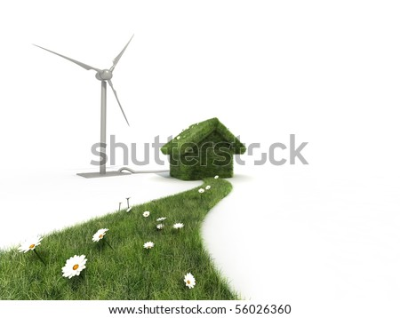 sustainable house - stock photo