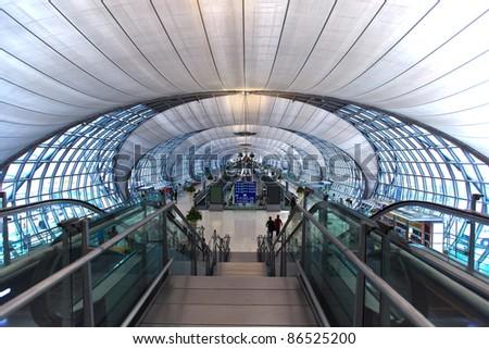 Suvanabhumi airport of Thailand - stock photo