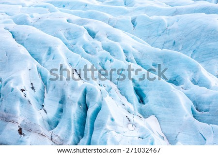 Svinafell Glacier national park, Iceland - stock photo